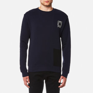 McQ Alexander McQueen Men's Curtis Colourblock Crew Neck Sweatshirt - Indigo