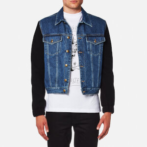McQ Alexander McQueen Men's Sophisticated Denim Felt Hybrid Jacket - Vintage Wash