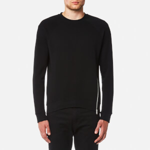McQ Alexander McQueen Men's Twisted Zip Curtis Crew Neck Sweatshirt - Darkest Black