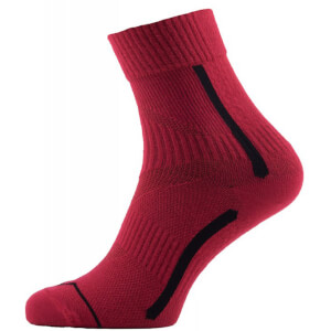 Sealskinz Road Max Ankle Socks - Red/Black