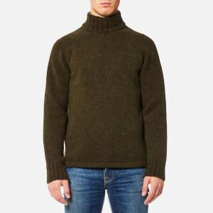 Our Legacy Men's Raglan Turtle Neck Knitted Jumper - Dark Olive