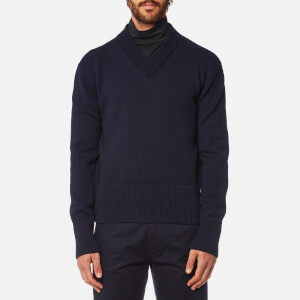 Our Legacy Men's V Neck Pullover - Navy Compact Wool