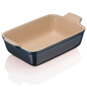 Le Creuset Stoneware Small Heritage Rectangular Roasting Dish - Ink