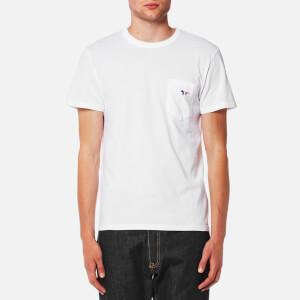 Maison Kitsune Men's Tricolor Fox Patch T-Shirt - White