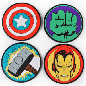Lot de 4 Dessous de Verres Marvel Comics