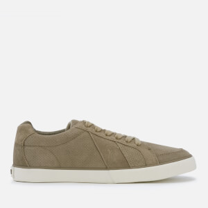 Polo Ralph Lauren Men's Hugh Perforated Suede Low Top Trainers - Dark Buck
