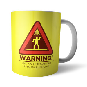 Warning Dad Dancing Mug
