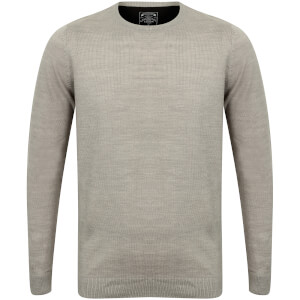 Kensington Men's Basic Crew Neck Jumper - Light Grey Marl