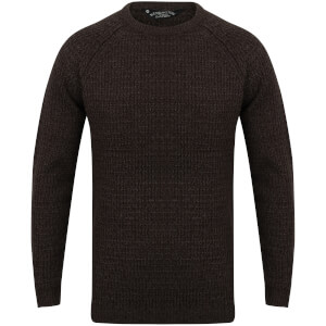 Kensington Men's Crew Neck Jumper with Twist - Black