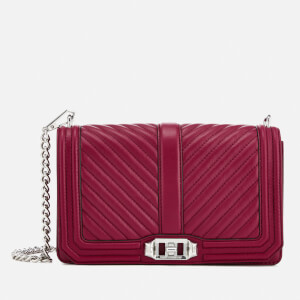Rebecca Minkoff Women's Chevron Quilted Cross Body Bag - Beet