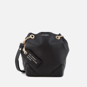Karl Lagerfeld Women's K/Slouchy Small Drawstring Bag - Black