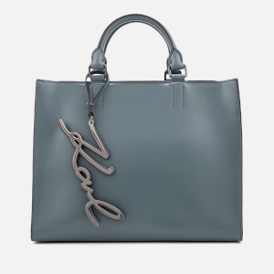 Karl Lagerfeld Women's K/Metal Signature Shopper Bag - Thunder