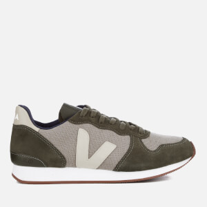 Veja Men's Holiday Runner Trainers - J-Mesh Rock Olive