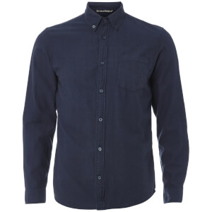 Tokyo Laundry Men's Westbridge Twill Long Sleeve Shirt - True Navy