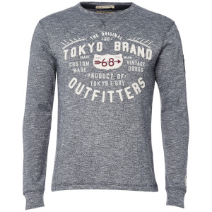 Tokyo Laundry Men's Timperley Jersey Long Sleeve Top - Dark Navy