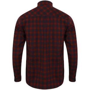 Tokyo Laundry Men's Glendale Flannel Long Sleeve Shirt - Red: Image 2