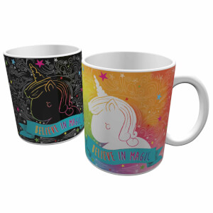 Tasse Thermosensible Licorne -Multicolore