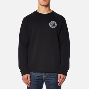 Versace Collection Men's Raglan Round Logo Sweatshirt - Nero