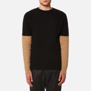 YMC Men's Skate or Die Brushed Crew Jumper - Black/Cashew
