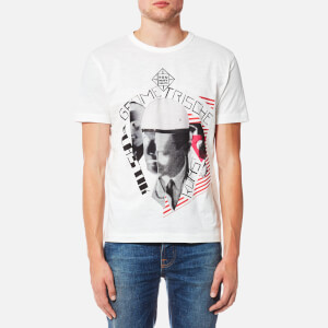 YMC Men's Geometrische Plastik Kunst T-Shirt - Ecru