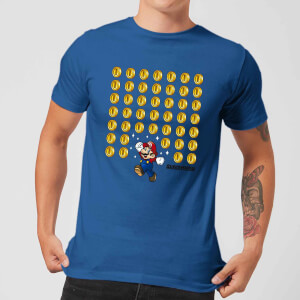 T-Shirt Nintendo Super Mario Coin Drop Blue - Uomo