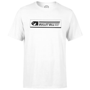 Nintendo Mario Kart Bullet Bill Speed Trial Heren T-shirt - Wit