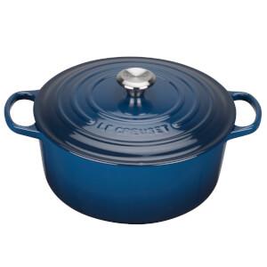Le Creuset Signature Cast Iron Round Casserole Dish - 24cm - Ink