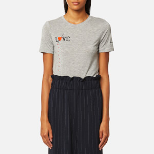 Ganni Women's Linfield Lyocell T-Shirt - Paloma Melange