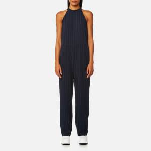 Ganni Women's Clark Pinstripe Jumpsuit - Total Eclipse