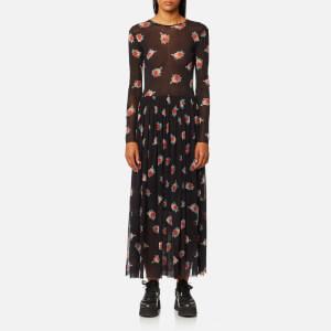 Ganni Women's Tilden Mesh Dress - Black
