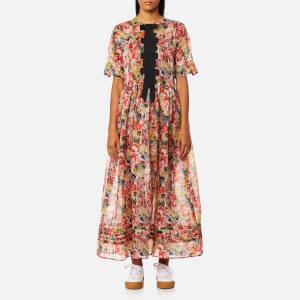 Ganni Women's Seneca Silk Dress - Multicolour