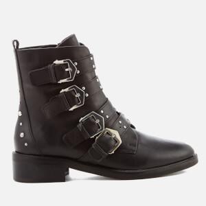 Carvela Women's Scant Leather Biker Boots - Black