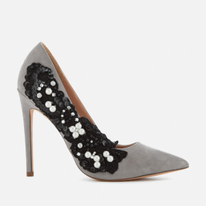 KG Kurt Geiger Women's Bounty Embellished Side Court Shoes - Grey