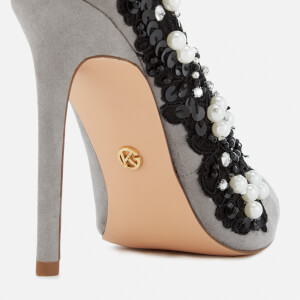 KG Kurt Geiger Women's Bounty Embellished Side Court Shoes - Grey: Image 5