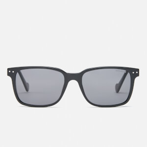 Moncler Men's Square Frame Sunglasses - Shiny Black/Green