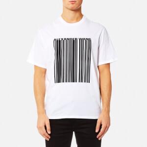 Alexander Wang Men's Classic Barcode Short Sleeve T-Shirt - White