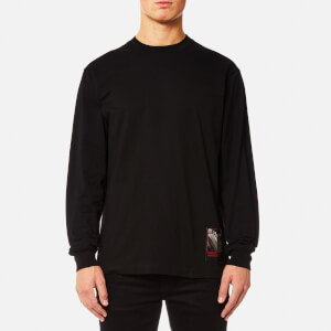 Alexander Wang Men's Slow and Steady Patch Long Sleeved T-Shirt - Black