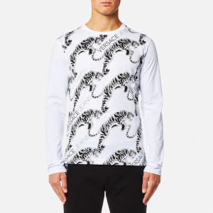 Versace Jeans Men's Tiger Logo Long Sleeve T-Shirt - White