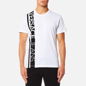 Versace Jeans Men's Stripe Logo T-Shirt - Bianco