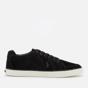 Polo Ralph Lauren Men's Hugh Perforated Suede Low Top Trainers - Black