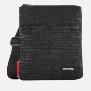 Diesel Men's Discover Cross Body Bag - All Over Logo Black