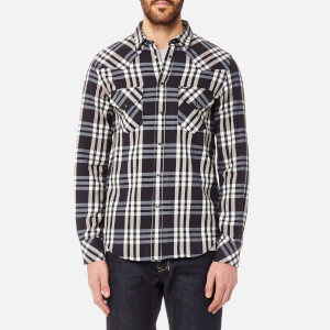 Diesel Men's East Long Sleeve Shirt - Blue