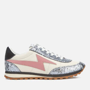 Marc Jacobs Women's Astor Lightening Bolt Runner Trainers - White/Multi