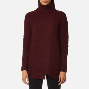 Barbour International Women's Mondello Roll Collar Jumper - Barolo