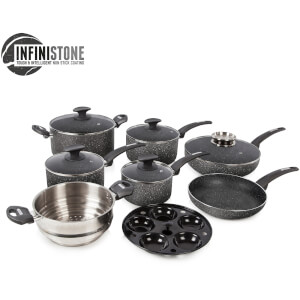 Tower T81601G Tower 9 Piece Stone Coated Pan Set - Graphite