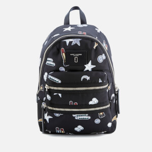 Marc Jacobs Women's Tossed Charms Printed Biker Backpack - Black Multi