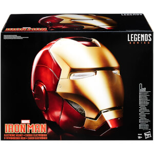Casco elettronico di Iron Man, a grandezza naturale - The Avengers Marvel Legends