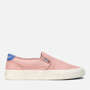 Superdry Women's Dion Slip On Trainers - Pink Blush Python