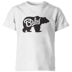 My Little Rascal Kids Baby Bear White T-Shirt