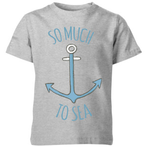 My Little Rascal Kids So Much to Sea Grey T-Shirt